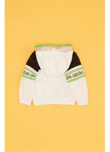 BG Baby Erkek Bebek Beyaz Yağmurluk Beyaz